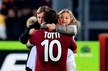 Totti targets Champions League after moving to second all time in Serie A goals