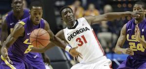 LSU beats Georgia 68-63, advances to SEC quarters