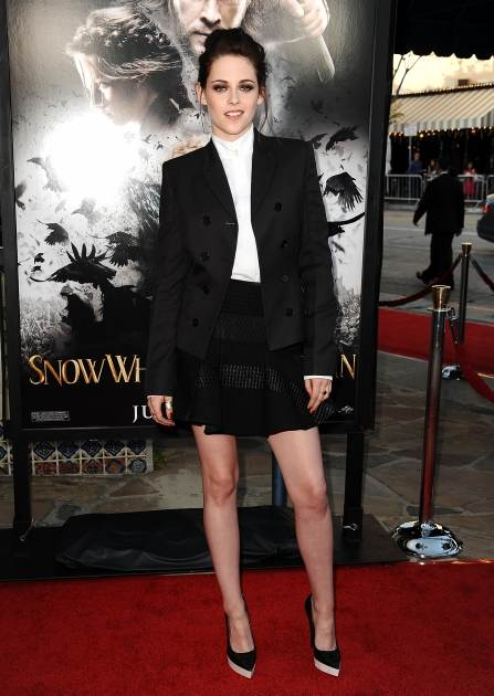Kristen Stewart steps out at a screening of 'Snow White and The Huntsman' at Westwood Village in Los Angeles on May 29, 2012 -- Getty Premium