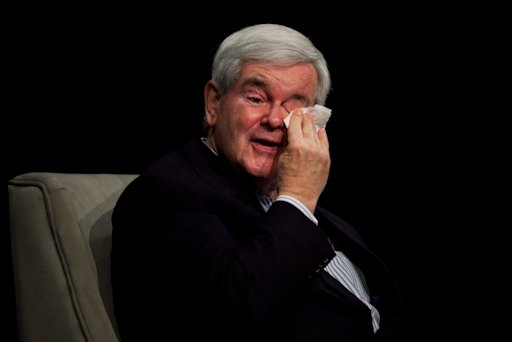 Newt Gingrich Plays the Crying Game (With Crybaby Pictures)