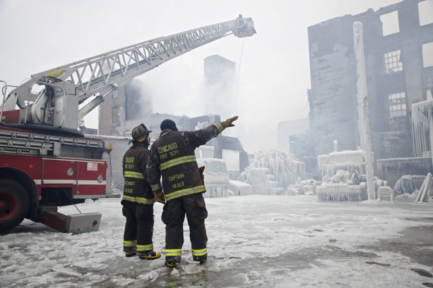 Two firefighters and their …