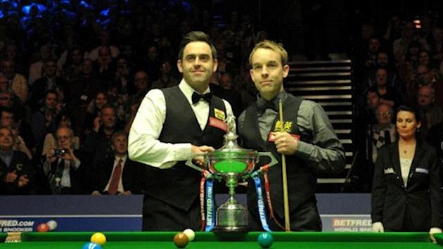 ronnie o'sullivan and allister carter 2012 world championship