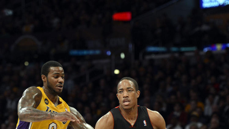 NBA: Toronto Raptors at Los Angeles Lakers
