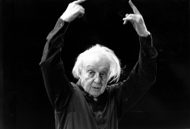 "FILE - in this Jan. 25, 1968 file photo, conductor Leopold Stokowski rehearses in the Felt Room in Madison Square Garden in New York. A century after Leopold Stokowski (sto-KOV'-ski) took the reins of The Philadelphia Orchestra, a history detective set on his trail has tracked down rarely-seen correspondence and belongings of the conductor affectionately known as ""Stoki."" Jack McCarthy, an archivist for the Historical Society of Pennsylvania, conducted a yearlong project for the orchestra to mark the 100th anniversary of Stokowski's 1912 appointment as conductor. (AP Photo)"