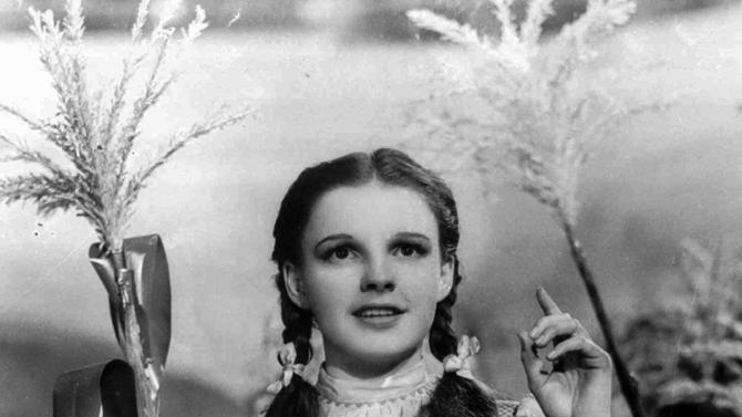 """FILE - In this 1939 file photo originally released by Warner Bros., Judy Garland portrays Dorothy in a scene from """"The Wizard of Oz.""""   (AP Photo/Warner Bros., file)"""