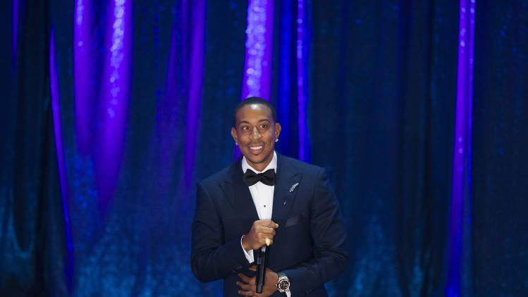 Rapper Ludacris accepts the President's Award at the 2014 BMI R&B/Hip-Hop Awards at the Pantages Theatre in Hollywood