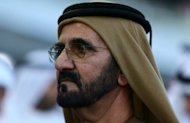 Dubai ruler, Sheikh Mohammed Bin Rashid al-Maktoum, attends the Dubai World Cup horse race, in the Gulf emirate on March 30, 2013. British racing's ruling body has no plans to formally interview the Dubai ruler and owner of the sport's largest stable, British Horse Racing Authority chief executive Paul Bittar has said.