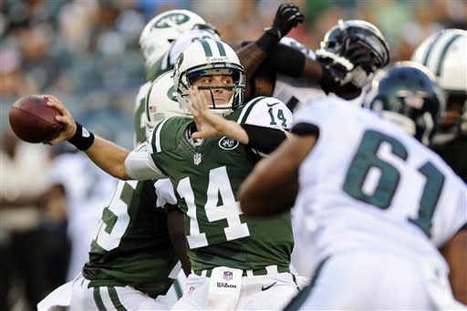 McElroy leads Jets to TD in 28-10 to Eagles