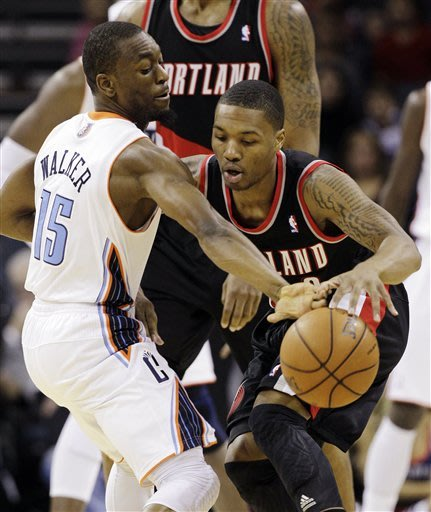 Blazers storm back to beat Bobcats 118-112 in OT
