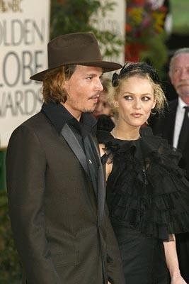 Johnny Depp, Vanessa Paradis Golden Globes - 1/25/2004