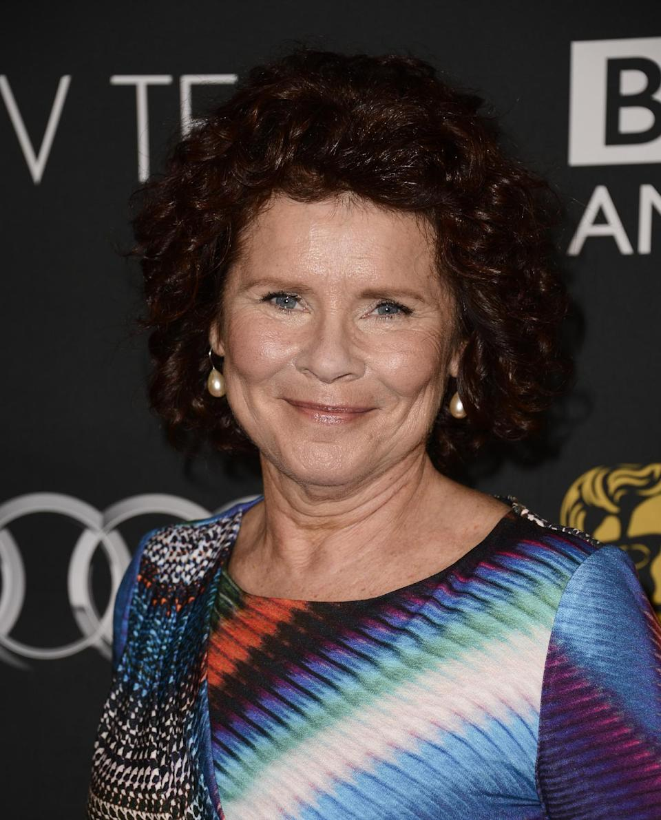 Actress and Emmy nominee Imelda Staunton arrives at the BAFTA's Los Angeles TV Tea party at the SLS Hotel on Saturday, Sept. 21, 2013 in Los Angeles. (Photo by Dan Steinberg/Invision/AP)
