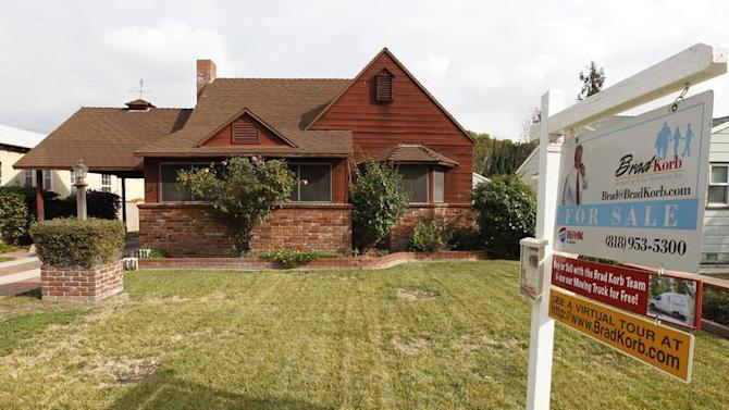 An existing single family home which is up for sale is pictured in Burbank