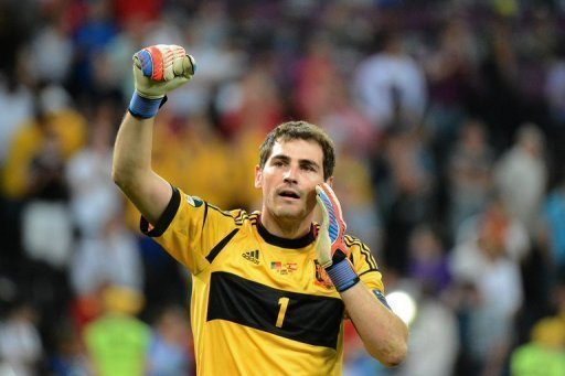 Spanish goalkeeper Iker Casillas …