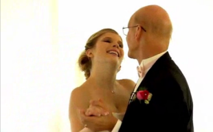 Rachel Wolf's touching last dance with her father.