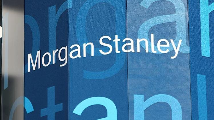 The logo for Morgan Stanley is seen at their headquarters in Times Square on September 18, 2008 in New York City