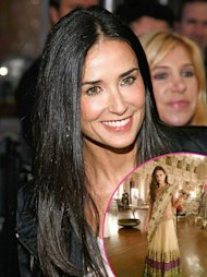 PICTURE: Demi Moore Attends Pal's Indian Birthday Bash, Dons Traditional Outfit