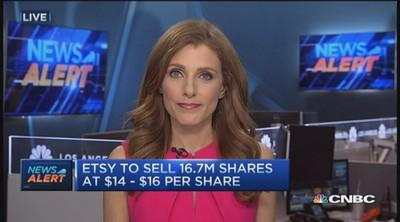 Etsy to sell 16.7M shares between $14-$16 in IPO