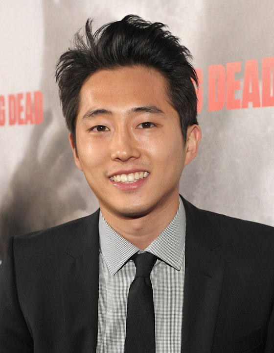 "Steven Yeun attends the Los Angeles premiere of ""The Walking Dead"" held at ArcLight Cinemas Cinerama Dome on October 26, 2010 in Hollywood, California."