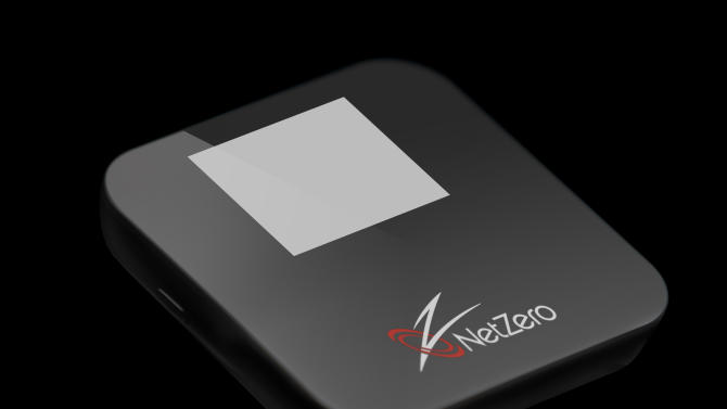 This product photo provided by United Online Inc., shows the NetZero 4G HotSpot. The NetZero 4G HotSpot simultaneously supports up to eight Wi-Fi-enabled devices, including tablets and smartphones, within a 150-foot range, which means families, friends and co-workers can tap the service without being tethered. AP Photo/United Online Inc.)
