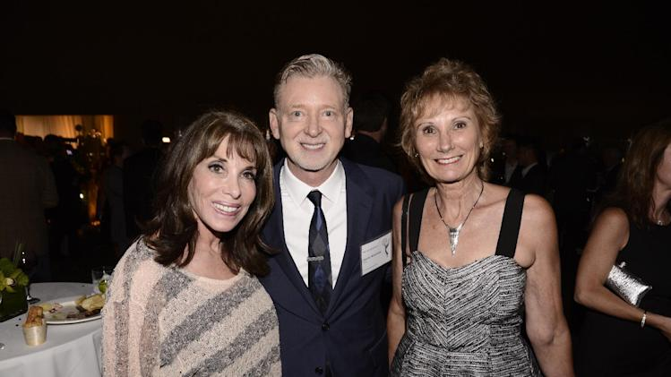 Kate Linder, and from left, Warren Littlefield and Roxanne Messina-Captor attend at the Television Academy's 66th Emmy Awards Producers Nominee Reception at the London West Hollywood on Friday, Aug. 22, 2014. (Photo by Dan Steinberg/Invision for the Television Academy/AP Images)