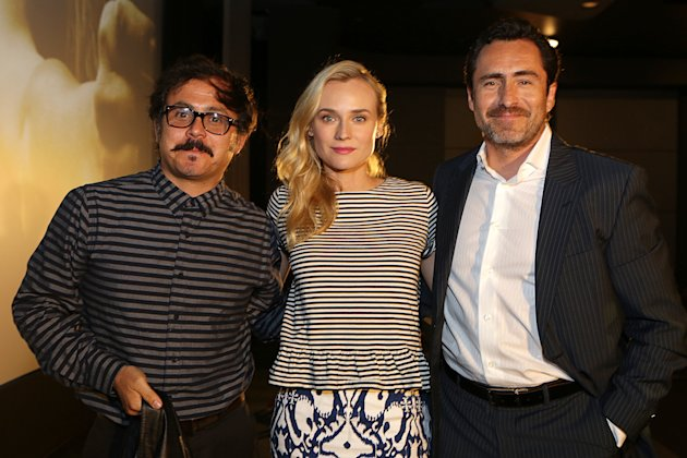 Director Gerardo Naranjo, Diane Kruger and Demian Bichir at FX's Screening of The Bridge held at The Pacific Design Center on May 20, 2013 /Invision for CLIENT NAME/AP Images)