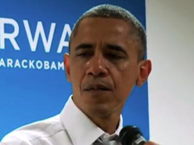 Raw: Obama tears up while speaking to staff
