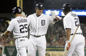 Cabrera homers twice to back Verlander