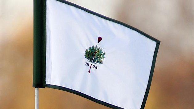 The Merion Golf club logo is displayed on a hole flag at the Merion Golf club in Haverford, Pennsylvania. (Reuters)
