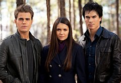 Vampire Diaries, Paul Wesley, Nina Dobrev and Ian Somerhalder | Photo Credits: Bob Mahoney/The CW