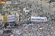 Clashes erupt at mass rally in Cairo