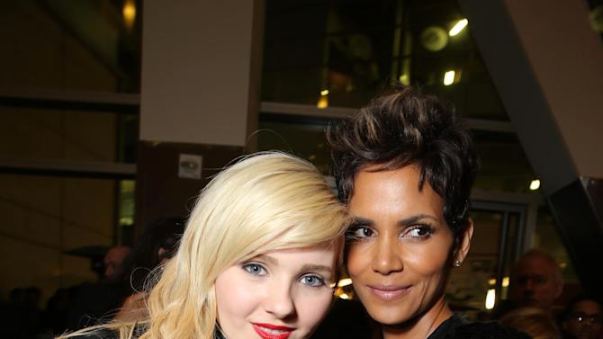 Abigail Breslin and Halle Berry at TriStar Pictures World Premiere of 'The Call', held at the ArcLight Hollywood on Tuesday, Mar. 5, 2013 in Los Angeles. (Photo by Eric Charbonneau/Invision for Screen Gems/AP Images)