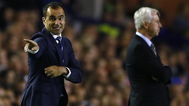 Roberto Martinez and Alan Pardew (Reuters)