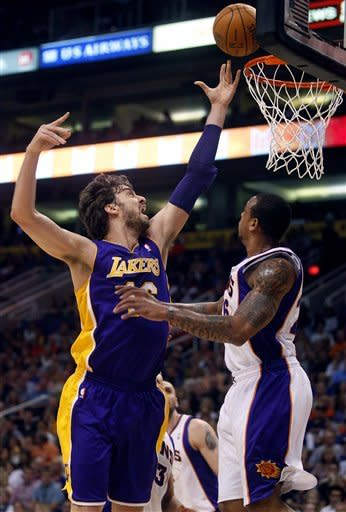 Without Kobe, Lakers fall to Phoenix 125-105