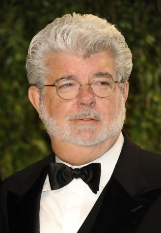 FILE - In this Feb. 26, 2012 file photo, George Lucas arrives at the Vanity Fair Oscar party in West Hollywood, Calif. A decade after George Lucas said &quot;Star Wars&quot; was finished on the big screen, a new trilogy is destined for theaters after The Walt Disney Co. announced Tuesday, Oct. 30, 2012, that it was buying Lucasfilm Ltd. for $4.05 billion. (AP Photo/Evan Agostini, File)