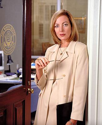 "Allison Janney as Press Secretary C.J. Cregg on NBC's ""The West Wing"" West Wing"