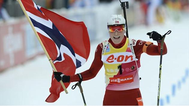 Biathlon - Berger wins second world medal with pursuit victory