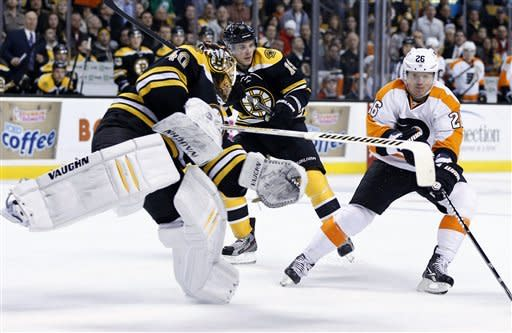 Bruins shut out Flyers 3-0