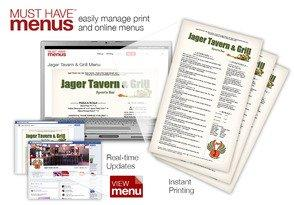 MustHaveMenus Restaurant Customers Succeed With Instant Menu Printing and Matching Real-Time Web Updates