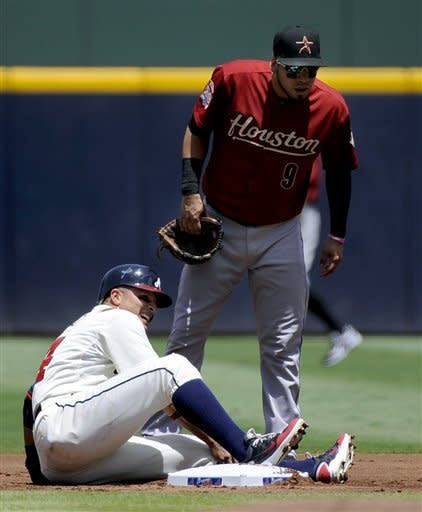 Chipper Jones has 2 hits, Braves beat Astros, 6-1