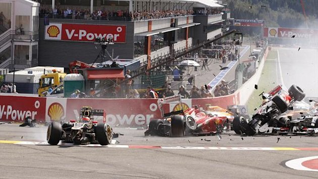 FORMULA 1 GP Belgique 2012 - Grosjean (accident)