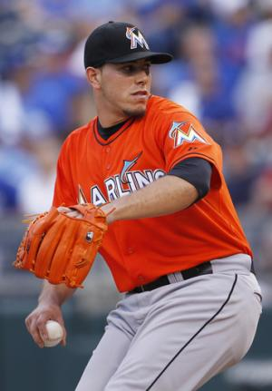 Yelich sends Marlins to 1-0 win over Royals in 10