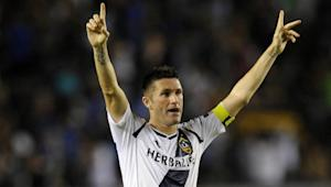 LA Galaxy's Robbie Keane scores amazing 40-yard goal while falling down | THE SIDELINE