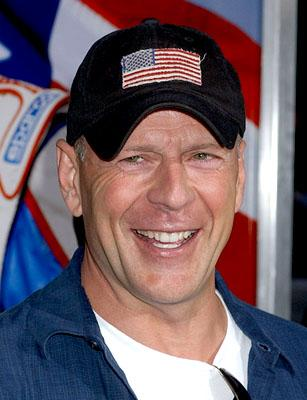 Bruce Willis at the LA premiere of Columbia's Talladega Nights: The Ballad of Ricky Bobby