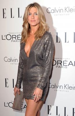 Jennifer Aniston arrives at the 18th Annual ELLE Women In Hollywood Tribute at The Four Seasons Hotel in Beverly Hills, Calif. on October 17, 2011  -- Getty Premium