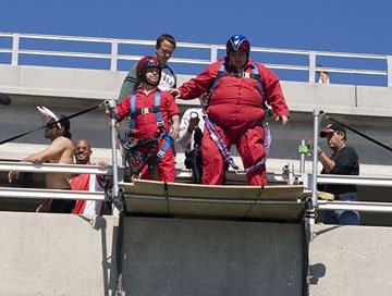 """Wee Man"" Jason Acuna and Preston Lacy in Paramount's Jackass: Number Two"