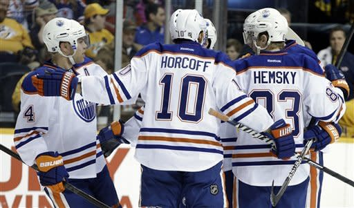 Predators edge Oilers 3-2 behind Kostitsyn