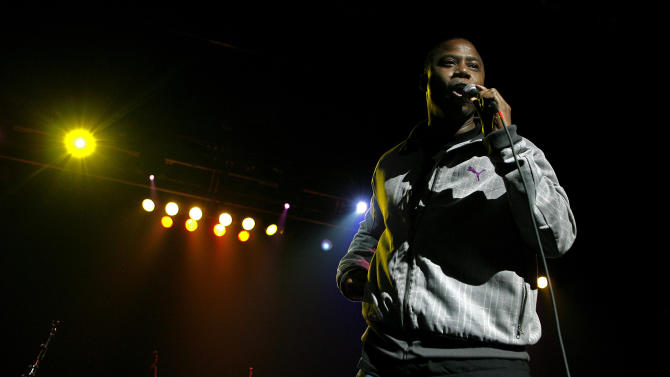 """FILE - In this May 7, 2008, file photo, Doug E. Fresh performs with Galactic at the seventh annual Jammy awards at the Theater at Madison Square Garden in New York. Atlanta is set to host the taping of the BET Hip-Hop Awards, Saturday, Sept. 20, 2014. Fresh will be honored with """"I Am Hip-Hop Icon"""" awards for the achievements in his career. He's known for classic hits such as """"La Di Da Di"""" and """"The Show."""" (AP Photo/Jason DeCrow, File)"""