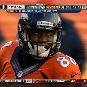 Denver Broncos wide receiver Demaryius Thomas 38-yard reception
