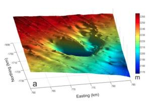Large Antarctic Crater Created by Underground Flood