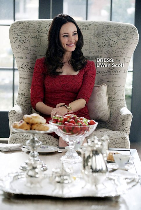 "Madeleine Stowe as Victoria Grayson in the Season 1 episode ""Commitment."" Revenge"